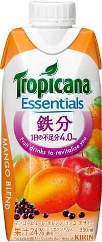 『トロピカーナ エッセンシャルズ 鉄分』