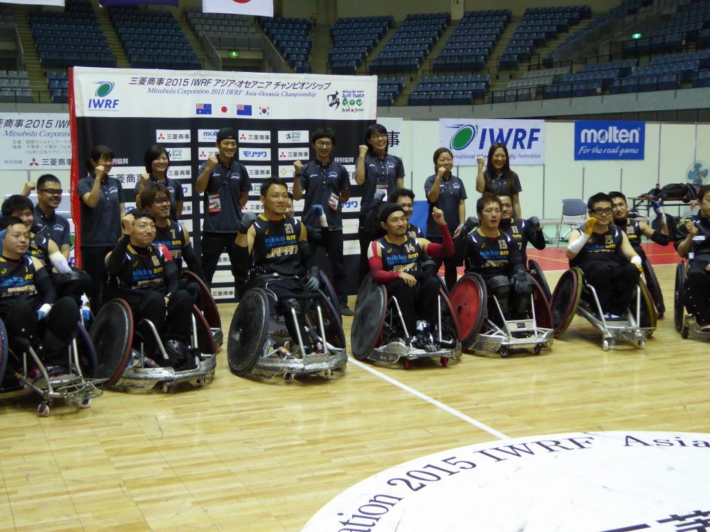 リオデジャネイロ・パラリンピックの出場権を獲得し喜ぶ日本