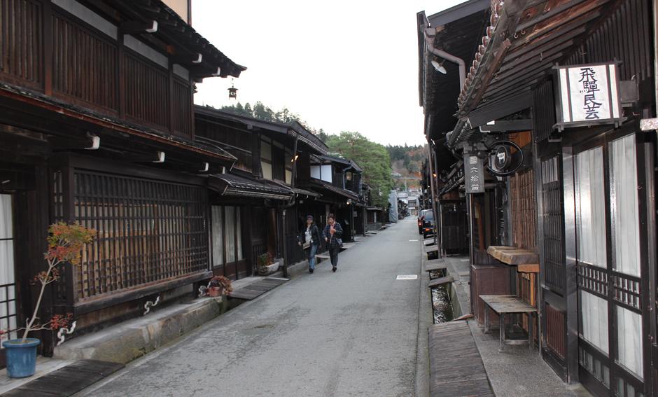 江戸時代の面影を残す古い町並み