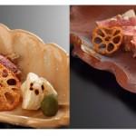左:真鴨のステーキはジューシーで濃厚、右:ドンコ(イノシシの仔)のステーキも絶品