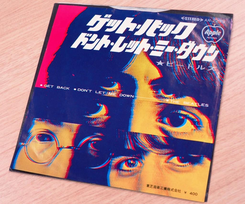 1969年のヒット曲「ゲット・バック」の日本国内シングル盤。