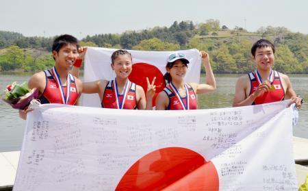 ボート、日本が男女で五輪出場枠 アジア予選 画像1