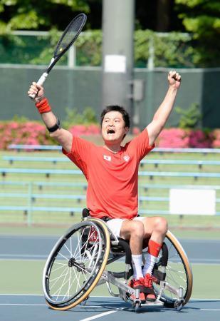 車いすテニス、男子決勝へ 世界国別選手権、女子V逃す 画像1