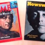1980年12月22日発行の「TIME」誌と「Newsweek」誌はジョンの死を悼み、表紙にとりあげた。