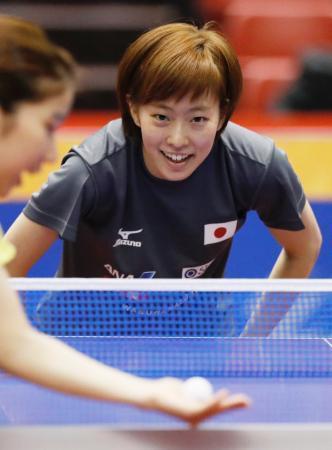 卓球の荻村杯、15日に開幕 石川佳純「楽しんで一戦一戦」 画像1