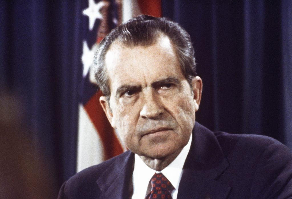 リチャード・ニクソン第37代米大統領。ウォーターゲート事件で1974年8月9日に辞任した。