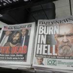 チャールズ・マンソンの死を報じるアメリカの新聞。Sipa USA/amanaimages/kyodonewsimages