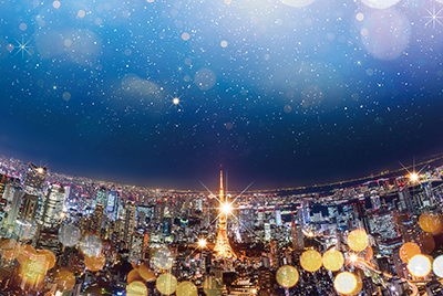 2位:天空のクリスマス【六本木ヒルズ展望台 屋上スカイデッキ】
