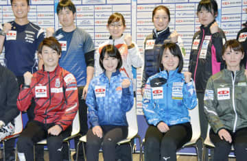 カーリング藤沢4年ぶりVに自信 日本選手権、出場チーム会見 画像1