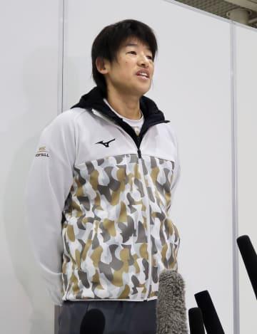 ソフト代表、上野「気合入る」 グアム合宿へ、五輪で金狙う 画像1