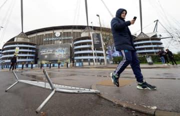 欧州の嵐でサッカー中止 プレミア、ドイツ1部など 画像1