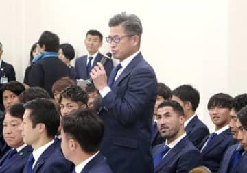 52歳カズ「ベスト10目指す」 J1挑む横浜FC、市役所訪問 画像1