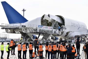 大型輸送機、胴体ずんぐり 787部品、米へ輸送 画像1