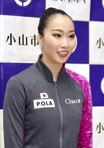 新体操団体の練習、栃木で公開 新演目披露、緊張を反省 画像1