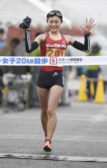 競歩、岡田久美子が五輪代表に 日本選手権20キロで6連覇 画像1
