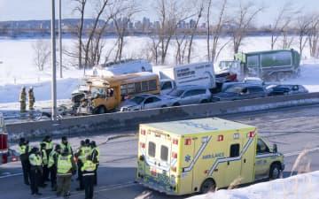 カナダで100台超の多重事故 2人死亡、60人けが 画像1