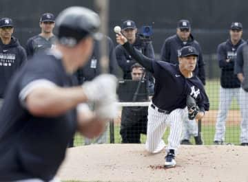 ヤンキースの田中、練習で登板 対戦形式「全体的に良かった」 画像1