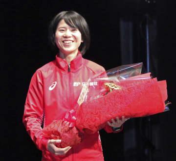 マラソン女子鈴木、五輪壮行会に 「最高の舞台で納得いく走りを」 画像1
