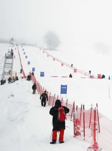 秋田で悪天候中止、W杯モーグル たざわ湖大会 画像1