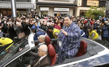 徳勝龍関を故郷の1万人が祝福 奈良市で優勝祝賀パレード 画像1
