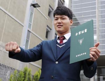 ドラフト1位・石川昂が卒業式に 中日、新型肺炎で保護者出席せず 画像1