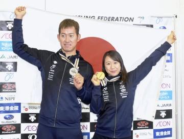 自転車、梶原と脇本が帰国 五輪制覇に強い思い 画像1