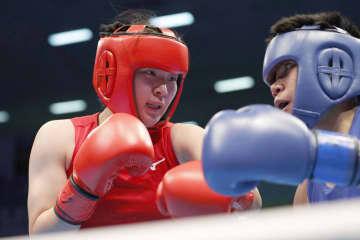 ボクシング、浜本は初戦で敗れる 東京五輪予選、女子ライト級 画像1