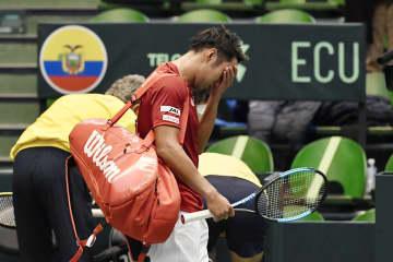 テニス、日本はエクアドルに連敗 国別対抗戦、デビス杯の予選 画像1