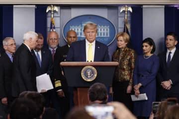 米大統領、大規模な経済対策検討 新型コロナで、減税を視野 画像1