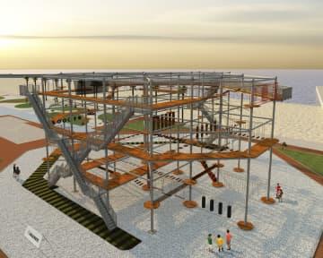 関空対岸に大型娯楽施設を開業へ 大和リース、サッカー場など 画像1