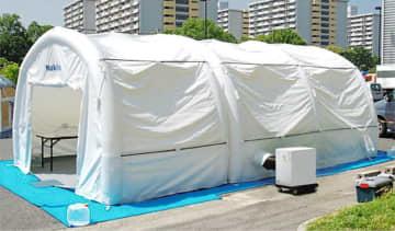 医療用テント5倍の千基に増産 大阪の太陽工業、コロナ検査対応 画像1