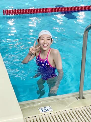 競泳の池江選手、プールに入る 白血病判明後初「幸せ」 画像1