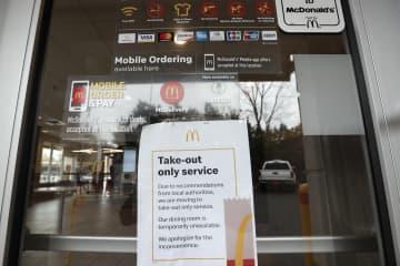 米マクドナルド、店内飲食を停止 スターバックスも、持ち帰りに 画像1