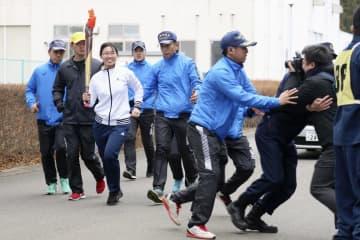 聖火リレー警備の訓練公開 スタート地点の福島県警 画像1