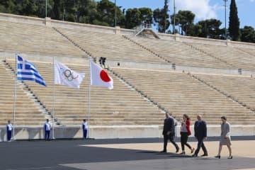 東京五輪聖火、日本側へ 引き継ぎ式、異例の無観客 画像1