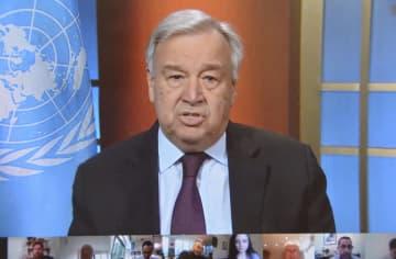 国連総長「景気後退、記録的に」 新型コロナ対応、結束呼び掛け 画像1