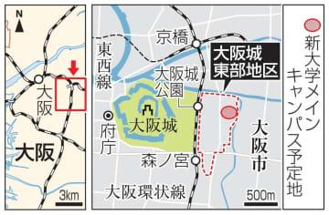 大阪「ヒガシ」拠点整備へ 大学キャンパス核に商業施設 画像1