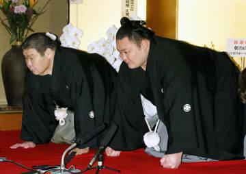 大関朝乃山が誕生、令和初 「正義を全う、一生懸命努力」 画像1
