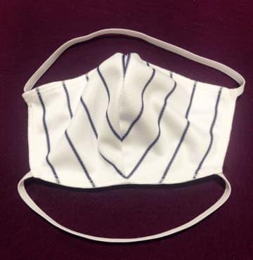米でユニホーム生地をマスクに ヤンキースの縦じまも変身 画像1