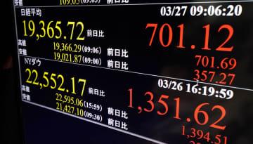 東証、午前終値1万8895円 米株高好感し反発、コロナ不安も 画像1