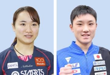 卓球、五輪代表は変更なし 男女各3人、協会理事会が了承 画像1