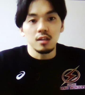 バスケ、篠山「来年の方が強い」 オンラインで五輪の意欲語る 画像1