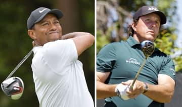 ウッズとミケルソン、5月に対戦 米男子ゴルフ、コロナ対策支援で 画像1
