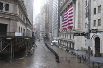 NY株反落、328ドル安 企業決算警戒 画像1