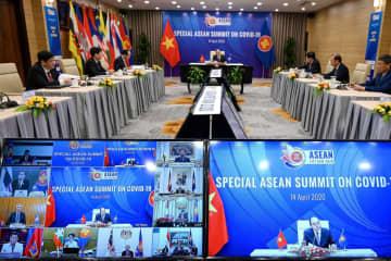 ASEAN、国際社会の分断懸念 首脳がコロナ対策でテレビ会議 画像1