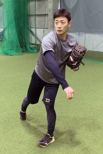 オリの松井雅、テーマは体づくり 球団施設で自主練習 画像1
