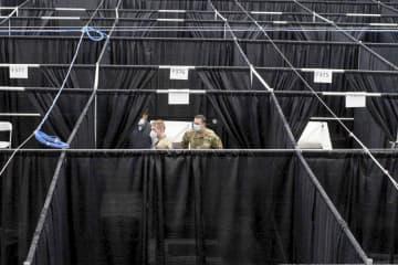 NYの全米テニス会場が病院に 屋内練習コートに475床 画像1