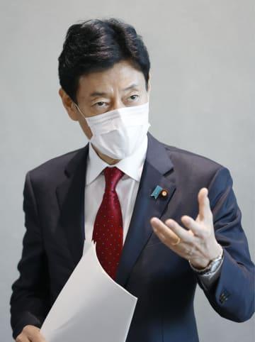 10万円、手挙げる方式ではない 給付手続きで西村再生相 画像1