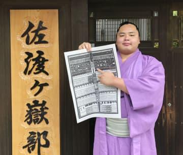 琴勝峰「無我夢中でやった」 新入幕の20歳、スピード出世 画像1