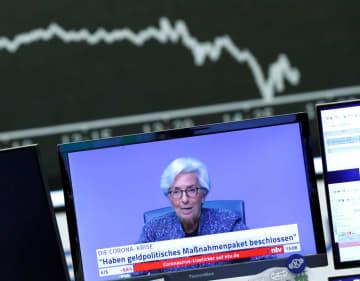 欧州中銀、量的緩和拡大も GDPは5~12%減の予測 画像1